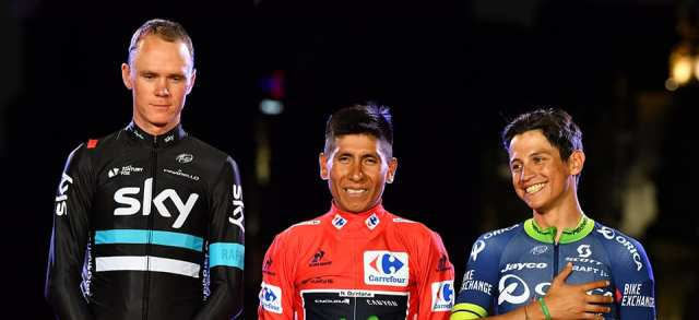 Podio de la Vuelta a España 2017