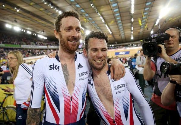 Wiggins y Cavendish ganando el mundial de Madison