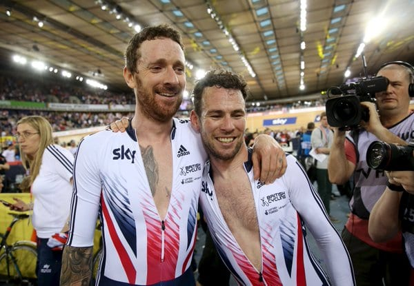 Wiggins y Cavendish ganando el mundial de Madison