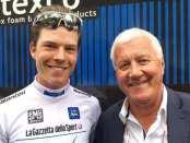 Patrick Lefevere junto a Bob Jungels