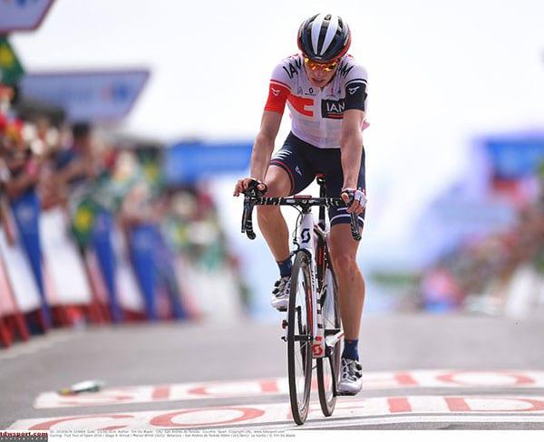Marcel Wyss terminando la 14ª etapa de la Vuelta a España