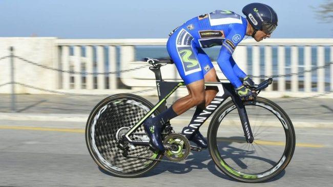 Nairo Quintana durante la crono de la Tirreno - Adriático