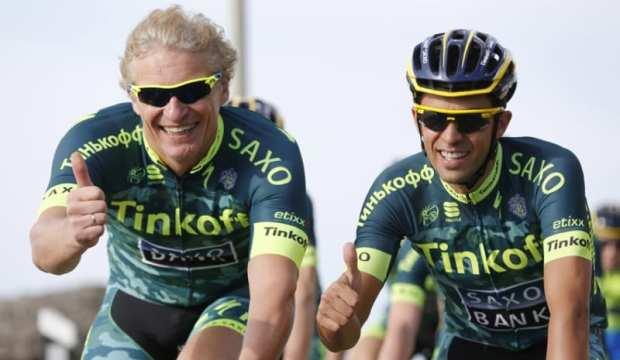 Oleg Tinkov con Alberto Contador