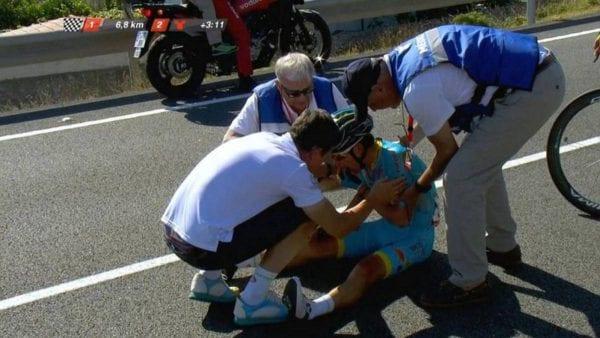 Miguel Ángel López durante la Vuelta a España