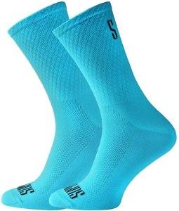 Calcetines Support Caña alta azul