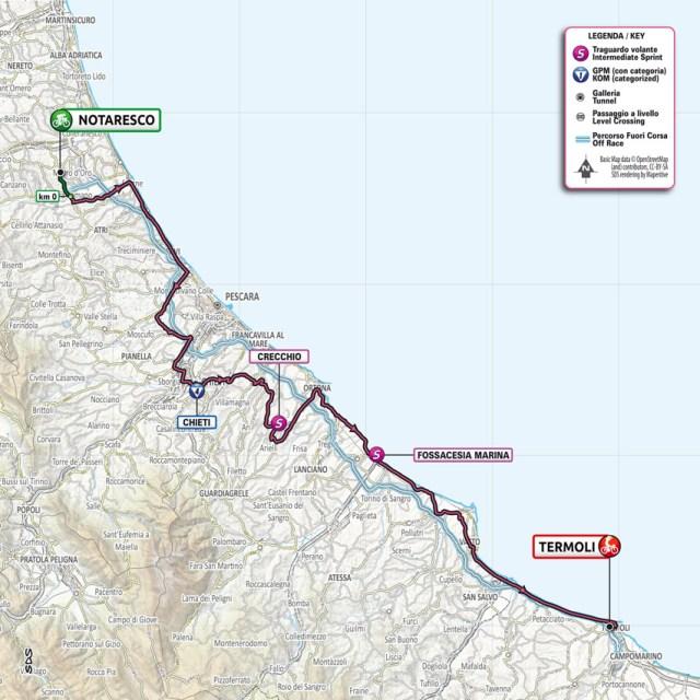 Planimetría etapa 7 Giro de Italia