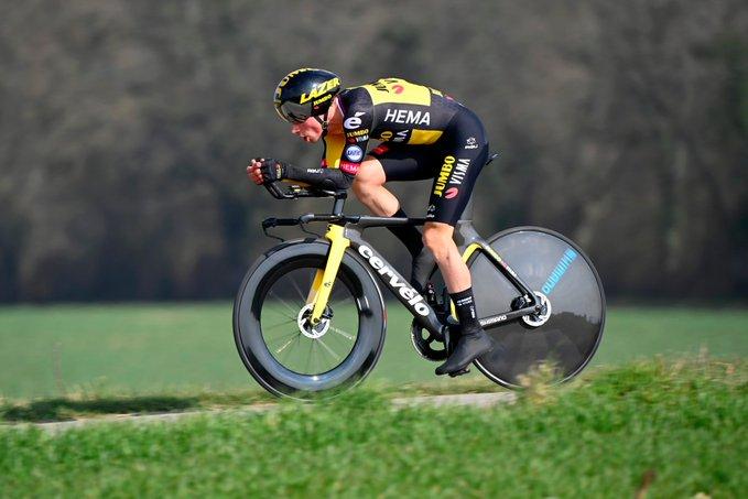 Primoz Roglic gana la crono de la Vuelta al País Vasco