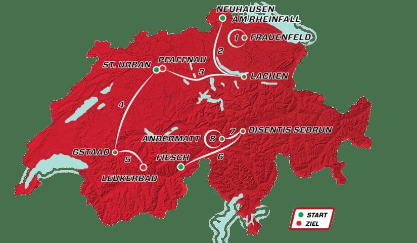 Recorrido Tour de Suiza 2021