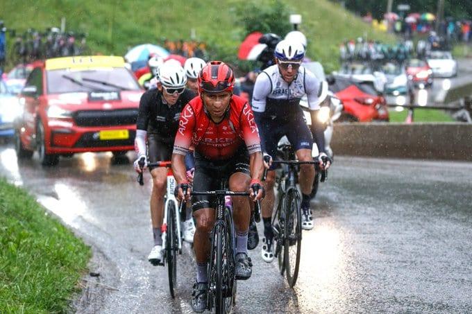 Nairo Quintana en la novena etapa del Tour de Francia