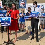 Kate Schroder at a Rally