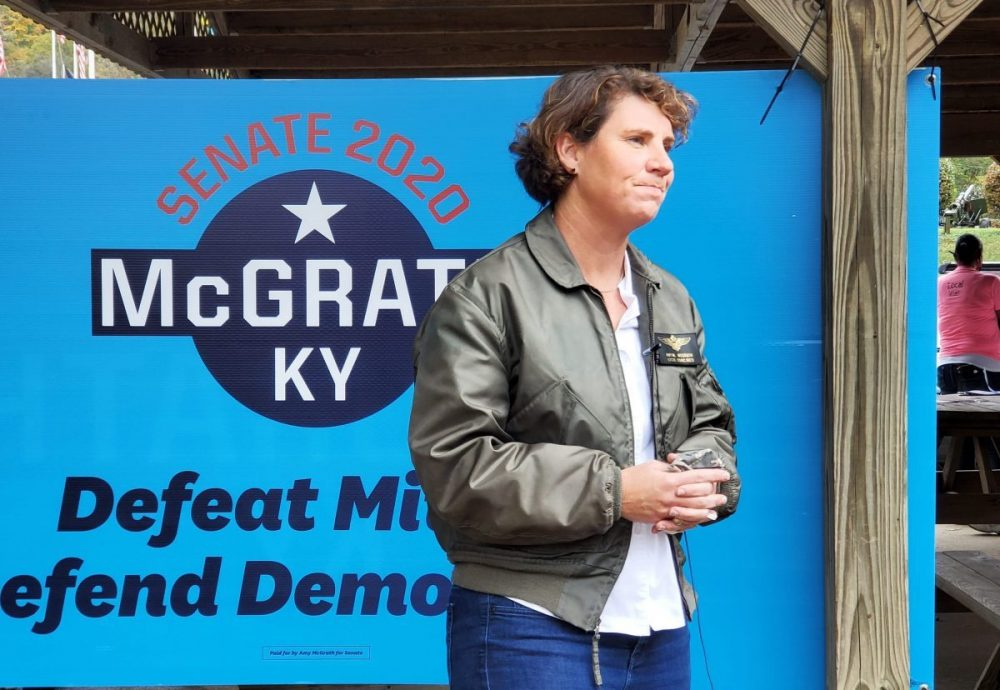 Amy McGrath campaigning