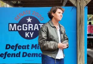 Amy McGrath campaigning