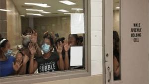 Women in immigration detention center