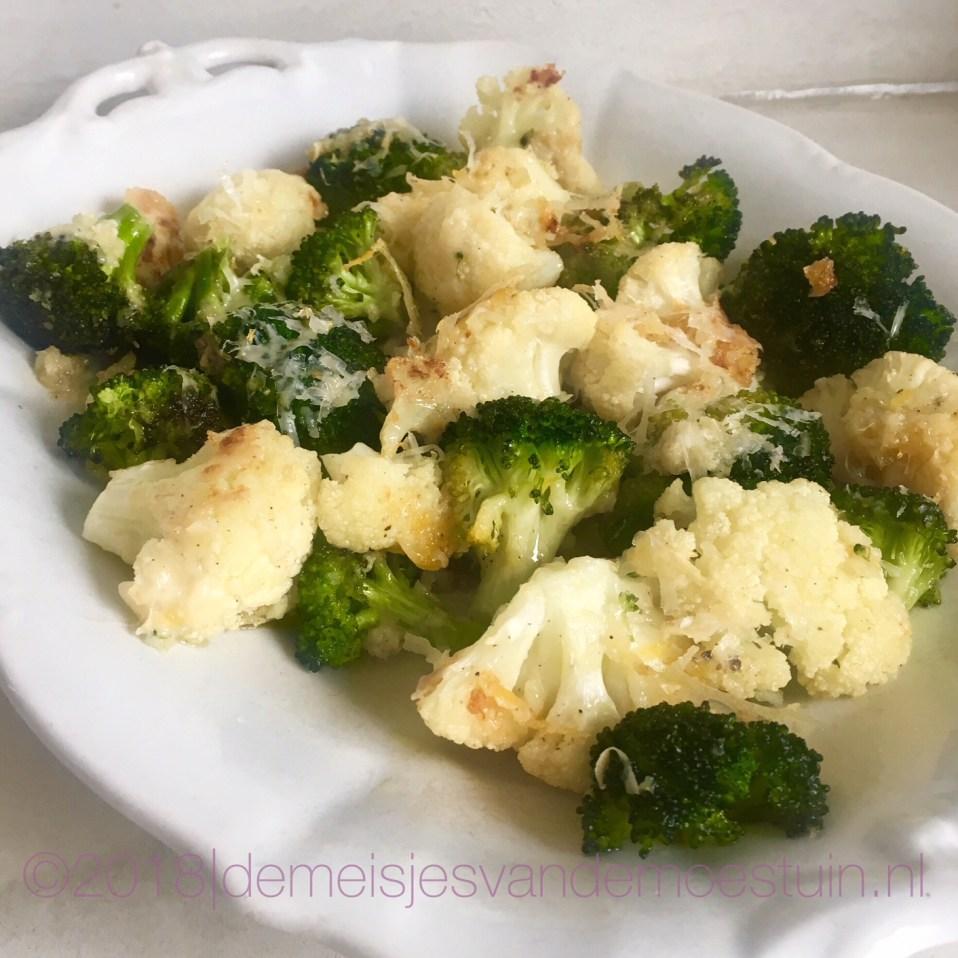 broccoli en bloemkool met citroen en knoflook