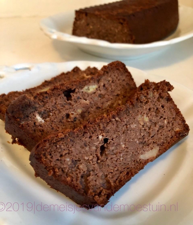 hazelnoot-chocolade bananenbrood
