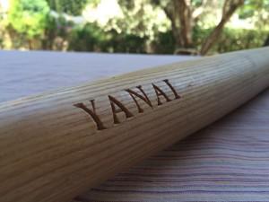 Baseball bat with name engraving