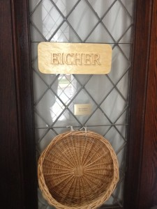 Eicher woodcarved sign