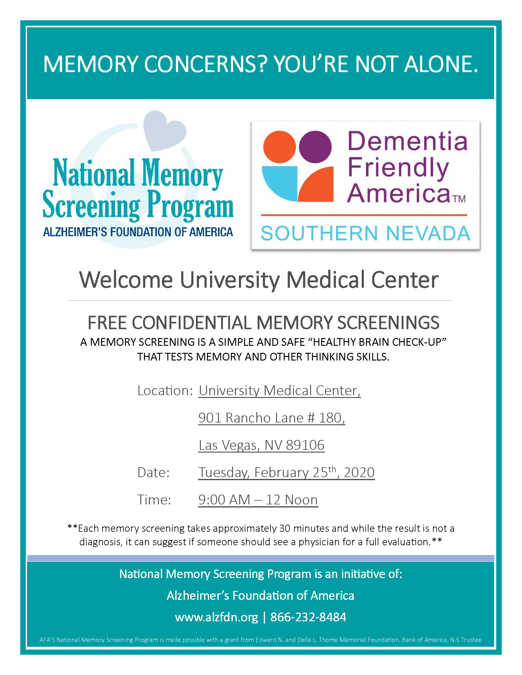 Cleveland Clinic Memory Screening Event