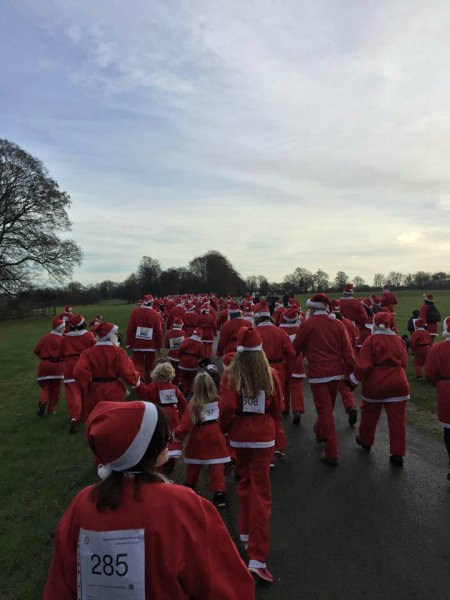 Stamford Santa Fun Run at Burghley House