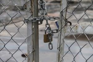 The padlocked fences
