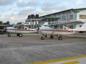FILE PHOTO: The two planes at the Eugene F. Correia (Ogle) International Airport