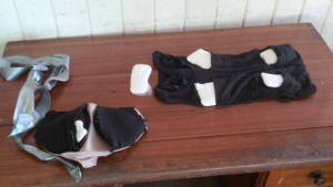 The cocaine that was allegedly  found strapped to the legs of a male Barbadian before he was scheduled to board a plane at the Eugene F. Correia (Ogle) International Airport.