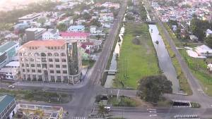 The Neil Sooklall Building, Camp and Lamaha Streets, Georgetown. (Picture from Peter Panoramics video)