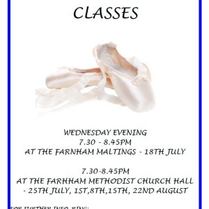 Adult Summer Ballet Classes 2018