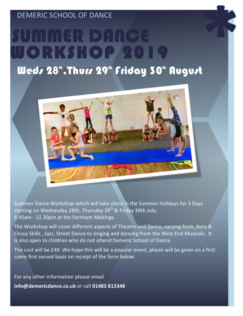 Summer Dance Workshop 2019