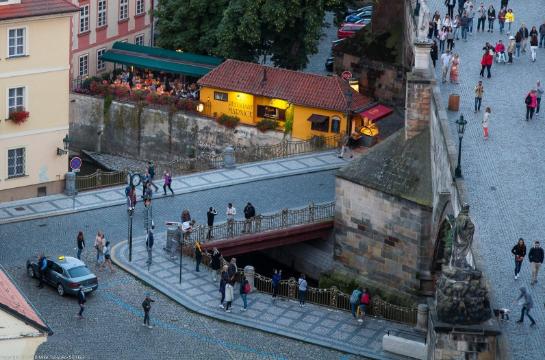 Prague. A view of the Lesser Town from the West tower of Charles Bridge