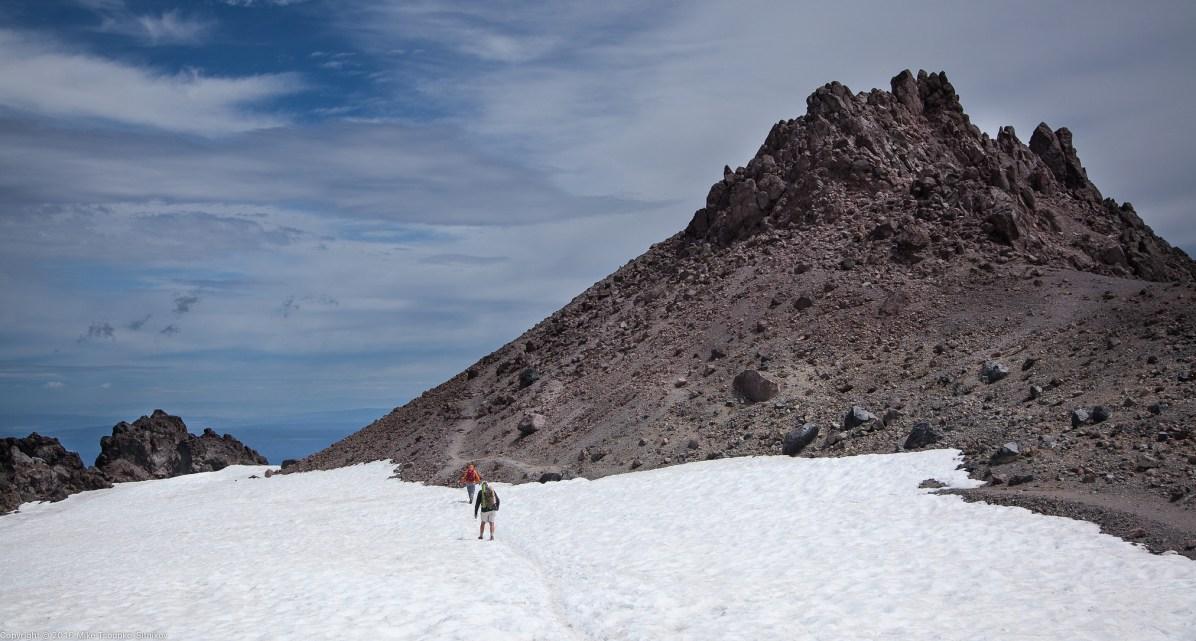 Lassen Peak: about to climb the summit rock
