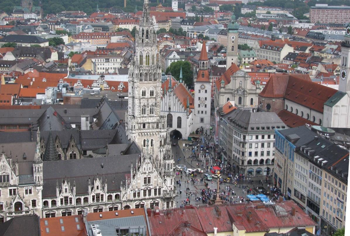 Marienplatz - a view from Frauenkirche belltower