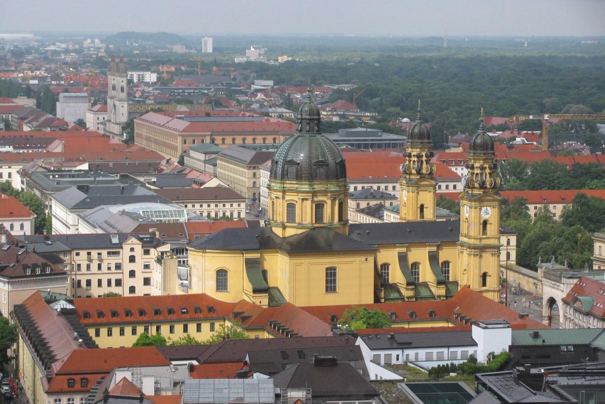 Theatine Church - a view from Frauenkirche belltower