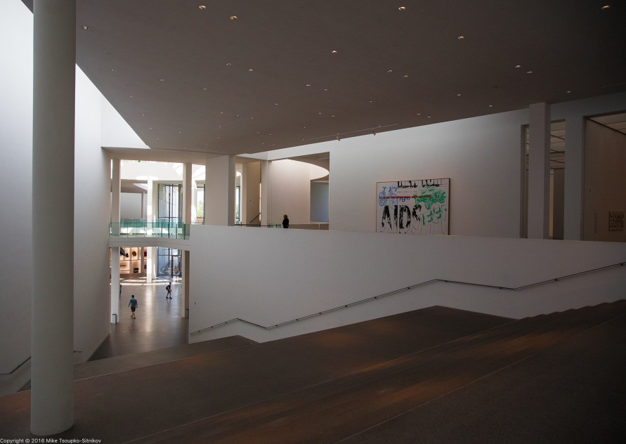 The staircase at Pinakothek der Moderne