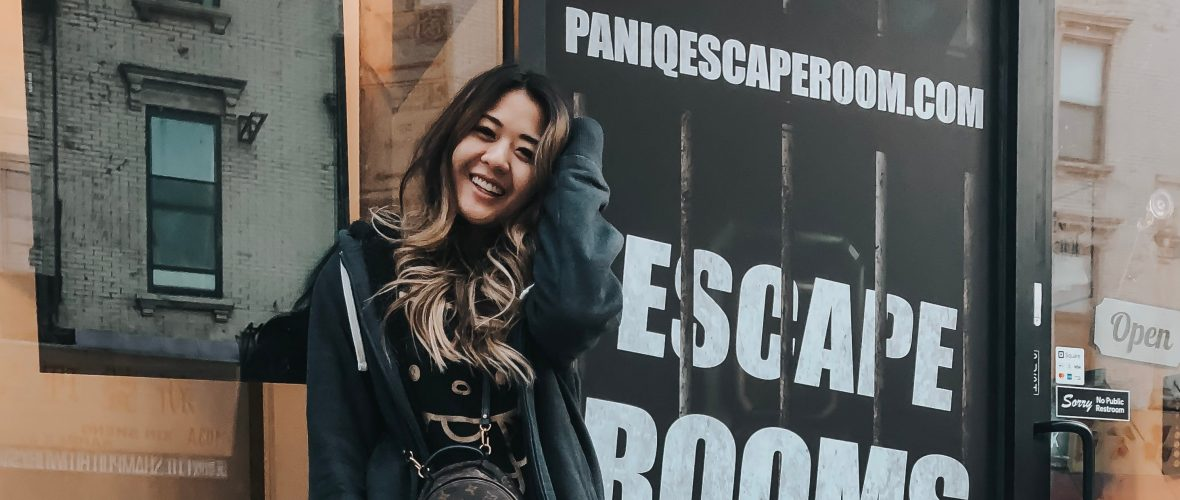 Lifestyle blogger, Demi Bang, attends an escape room at PanIQ Room in New York City!