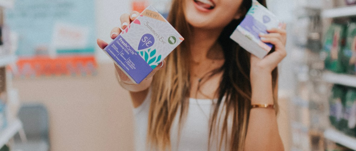 Demi Bang introduces NEW line of Summer's Eve FreshCycle