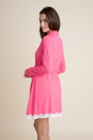 Lady Godiva Classic Robe back Fuchsia