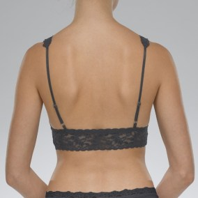 Signature Lace Bralette granite back