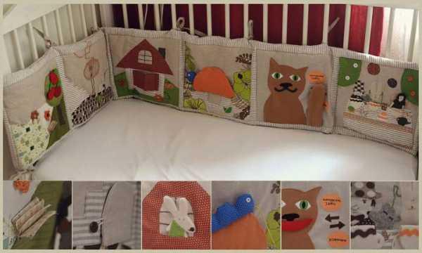 Бортики в кроватку своими руками выкройки с размерами ...