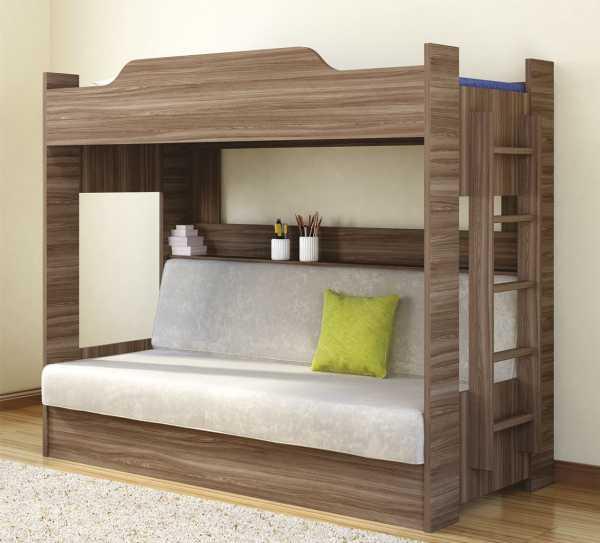 Двухъярусные кровати фото с диваном внизу – Двухъярусная ...