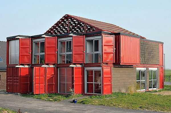 Проекты домов из морских контейнеров с чертежом фото ...