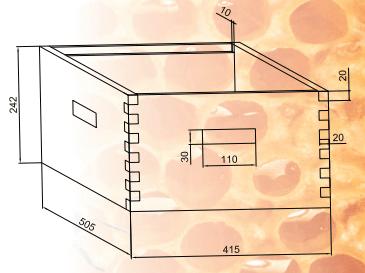 Cámara de cría y alza (medidas en mm)