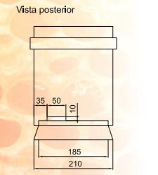 Cuerpo del portanúcleo, vista posterior
