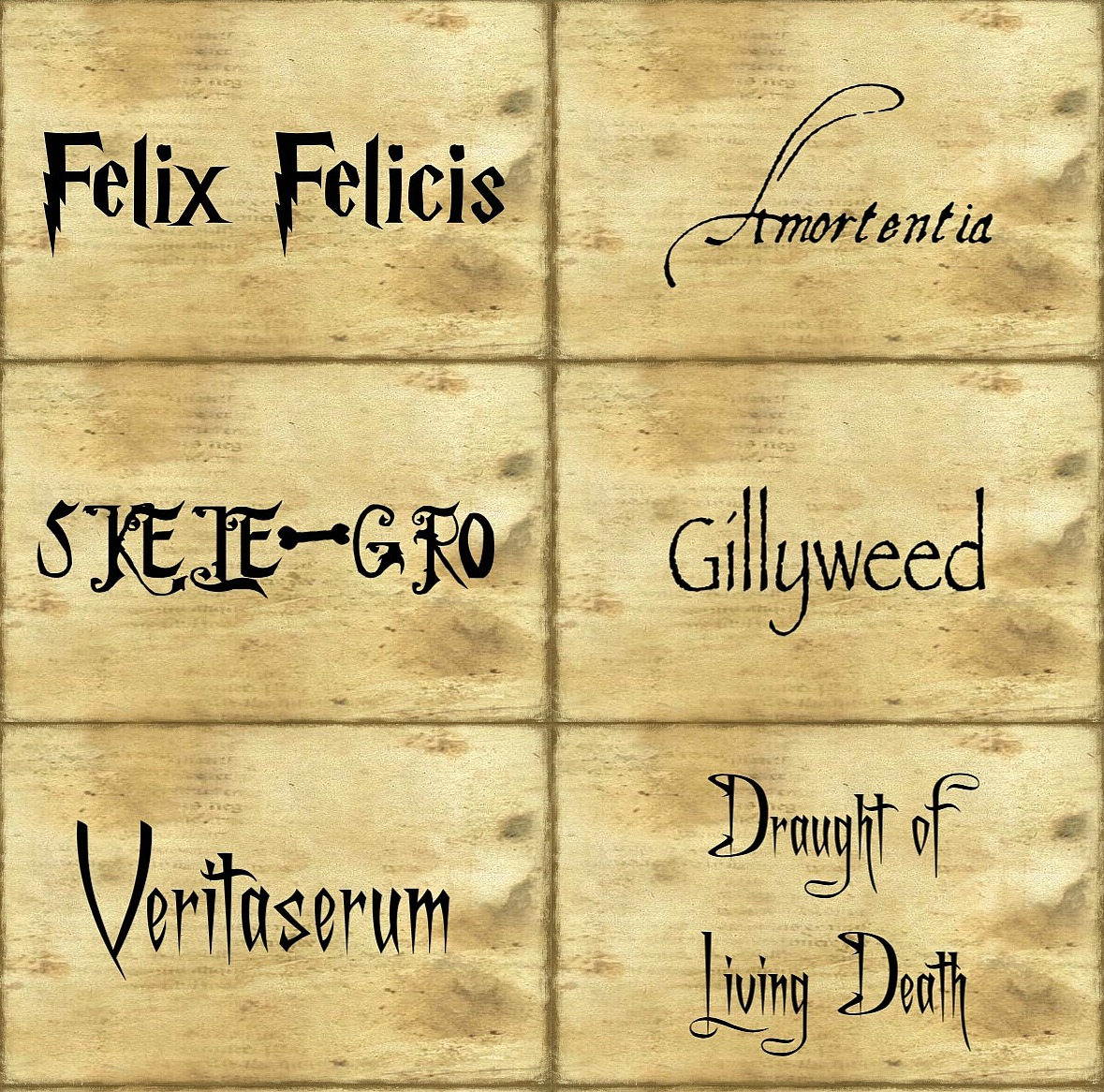 Harry Potter Labels Demisiriusly