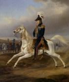 Roi William I de Wurttemberg à cheval.