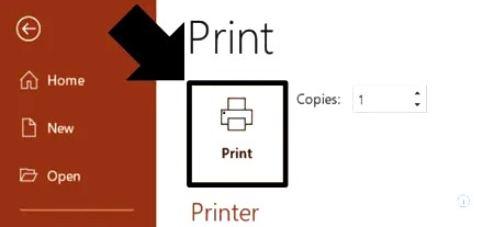 How to print multiple slides on one page only