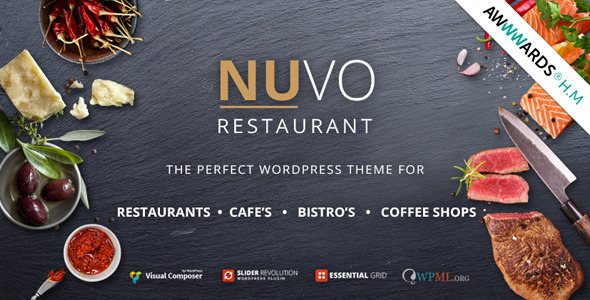 NUVO - Cafe & Restaurant WordPress Theme - Multiple Restaurant & Bistro Demos