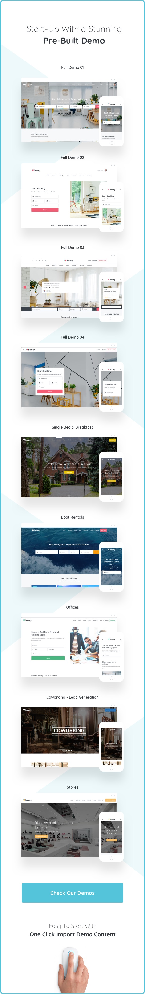 Homey - Booking and Rentals WordPress Theme - 8