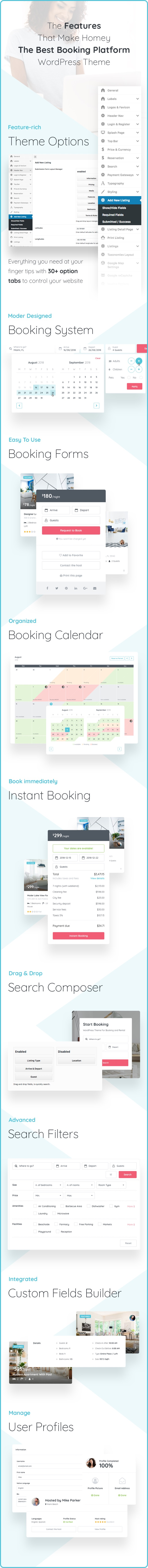 Homey - Booking and Rentals WordPress Theme - 9
