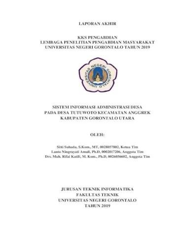 This application can be used as aids evaluation test computerized answer direct Sitti Suhada S Kom Mt 0028057802 Ketua Tim Tujuan Yang Ingin Dicapai Pada Kegiatan Kks Pengabdian Pdf Document